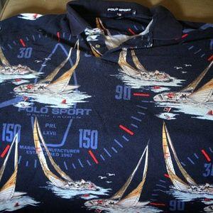RARE Vintage Polo Sport Marine Manufacturer shirt